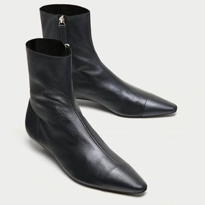 Brand new Zara Leather ankle boots size 7 1/2 7.5